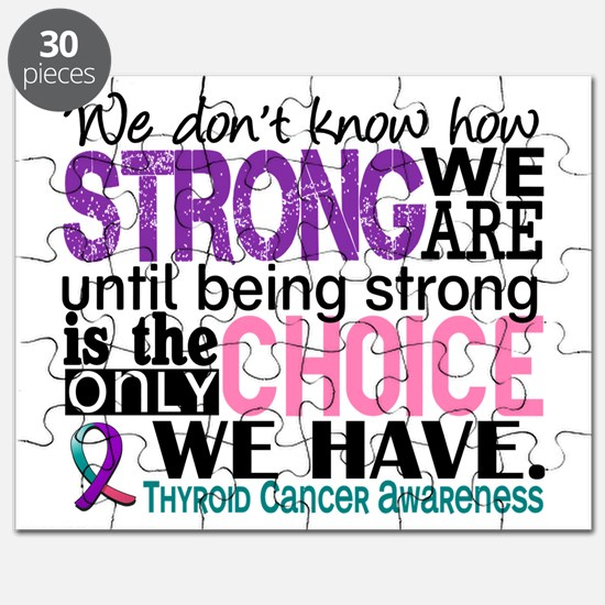 Thyroid Cancer How Strong We Are Puzzle