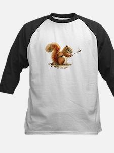Fun Red Squirrel Roasting Marshmallows Baseball Je