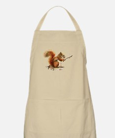 Fun Red Squirrel Roasting Marshmallows Apron