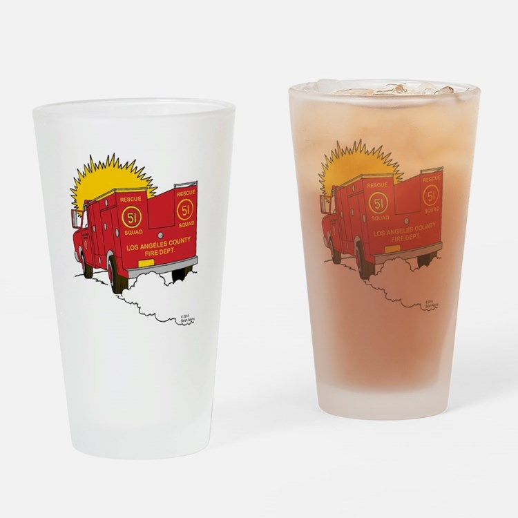Squad 51 Drinking Glass