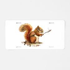 Fun Red Squirrel Roasting Marshmallows Aluminum Li