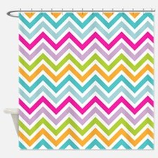 Rainbow Zigzag Pattern Shower Curtain