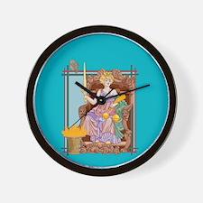 Tarot Justice Wall Clock