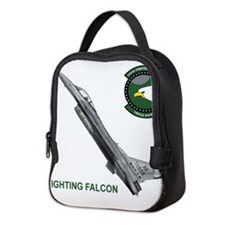 F-16_falcon_fighting.png Neoprene Lunch Bag