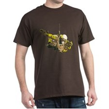 skydive cutout yellow large T-Shirt