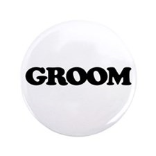 "Groom 3.5"" Button"