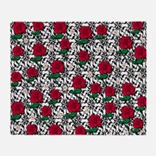Roses and Daisies Throw Blanket