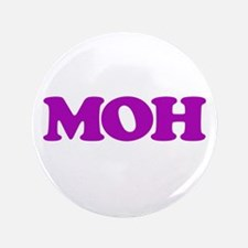 """MOH (Maid of Honor / Matron of Honor) 3.5"""" Button"""