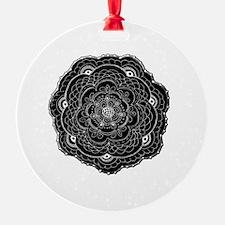 Black Lace Flower Original Art Ornament