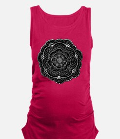 Black Lace Flower Original Art Maternity Tank Top