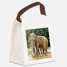 ELEPHANT LOVE Canvas Lunch Bag