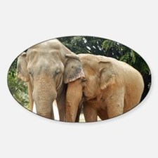ELEPHANT LOVE Sticker (Oval)