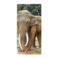 ELEPHANT LOVE Beach Towel