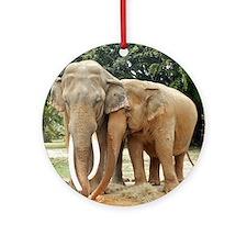 ELEPHANT LOVE Ornament (Round)