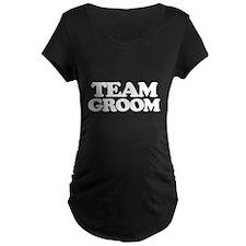 Team Groom (white font) Maternity T-Shirt
