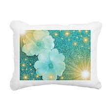 blume in mint Rectangular Canvas Pillow
