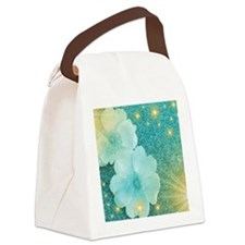 blume in mint Canvas Lunch Bag