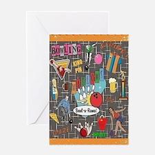 Bowl-A-Rama Card Greeting Cards