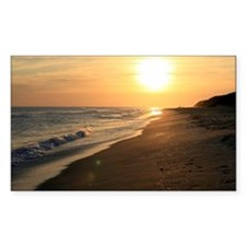 Dramatic Beach Sunset Photo Decal