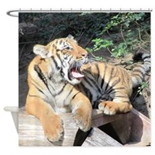 AWESOME TIGER Shower Curtain
