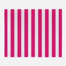 Pink Stripes Throw Blanket