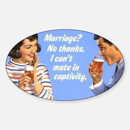 Marriage? Sticker (Oval)