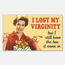Lost My Virginity Sticker (Rectangle)