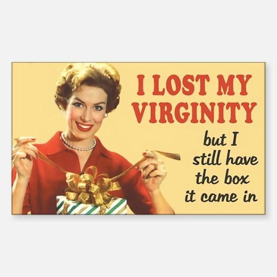 Lost My Virginity Sticker (Rectangle)