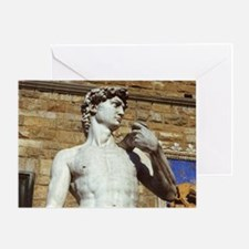 Michelangelo's David Statue Greeting Card