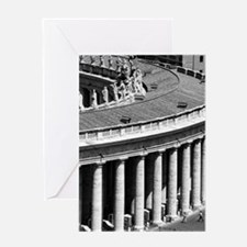 Rome Italy Vatican Black and White P Greeting Card