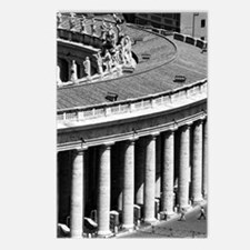 Rome Italy Vatican Black  Postcards (Package of 8)