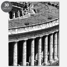 Rome Italy Vatican Black and White Photo Puzzle