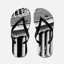 Rome Italy Vatican Black and White Phot Flip Flops