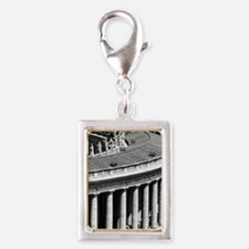 Rome Italy Vatican Black and Silver Portrait Charm