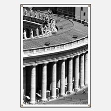 Rome Italy Vatican Black and White Photo Banner