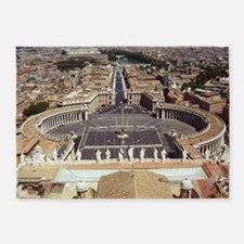 Rome Vatican St Peter's Basilica Ro 5'x7'Area Rug