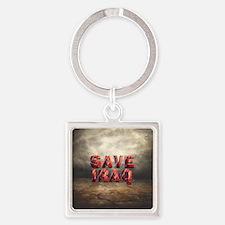 Save Iraq Square Keychain