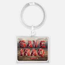 Save Iraq Landscape Keychain Keychains