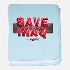 Save Iraq baby blanket
