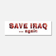 Save Iraq Car Magnet 10 x 3