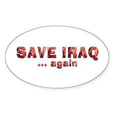 Save Iraq Decal