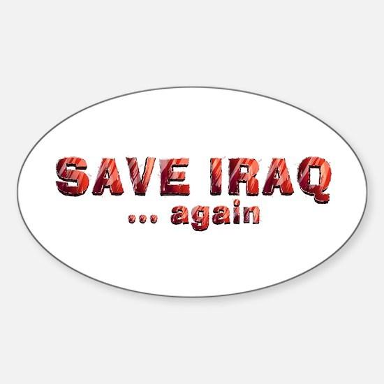 Save Iraq Sticker (Oval)