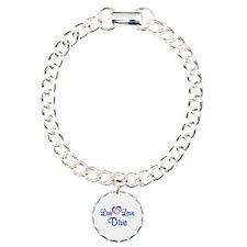 Live Love Dive Charm Bracelet, One Charm
