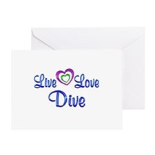 Live Love Dive Greeting Card