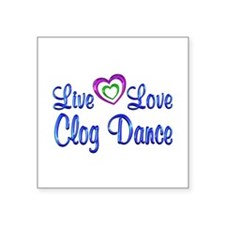 "Live Love Cook Square Sticker 3"" x 3"""