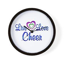 Live Love Cheer Wall Clock