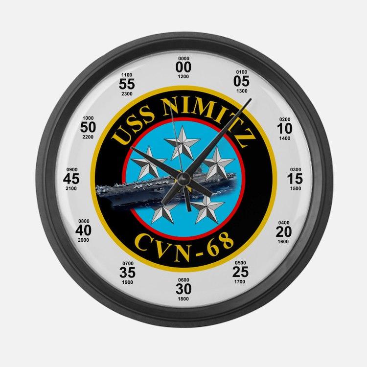 USS Nimitz CVN-68 Large Wall Clock