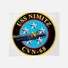 USS Nimitz CVN-68 Throw Blanket