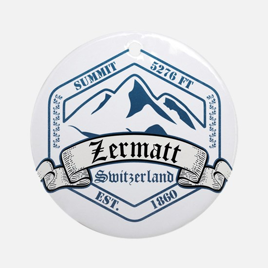 Zermatt Ski Resort Switzerland Ornament (Round)