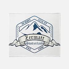 Zermatt Ski Resort Switzerland Throw Blanket